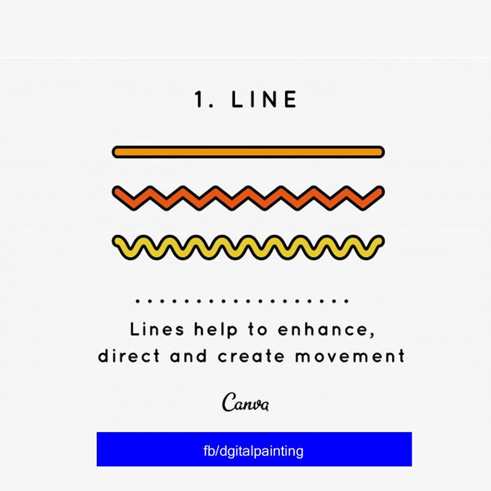 Design Elements & Principles No 1 - Line